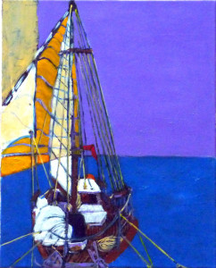 "From the Bowsprit; 20""x16"" acrylic on canvas."